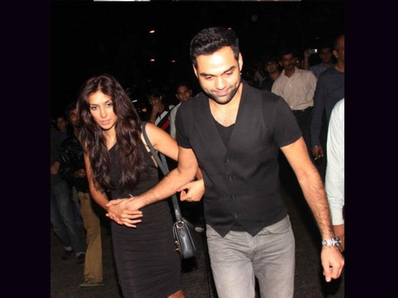 Abhay Deol and Preeti Desai at the bash.