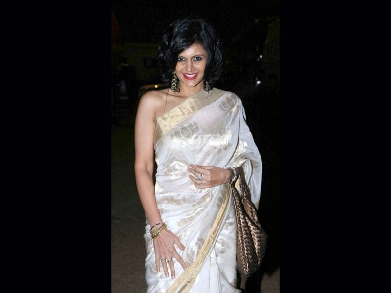 Mandira Bedi's sari suits her, but what's wrong with her lipstick?