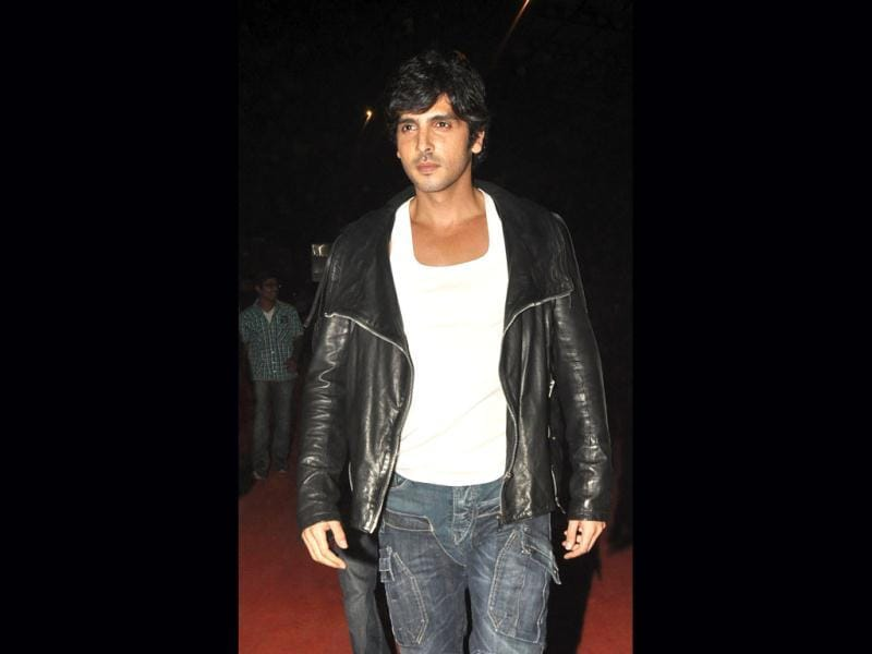 Zayed Khan at the Mumbai police event.
