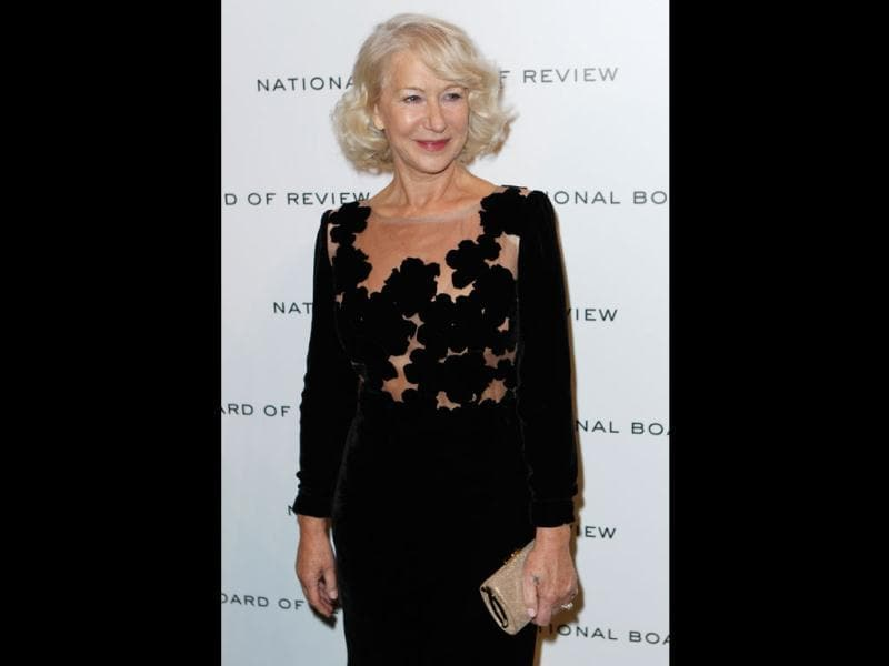 Dame Helen Mirren attends the National Board of Review awards gala. She has previously won Academy Award for Best Actress, four SAG Awards, four BAFTAs, three Golden Globes, four Emmy Awards, and two Cannes Film Festival Best Actress Awards. (AP Photo)