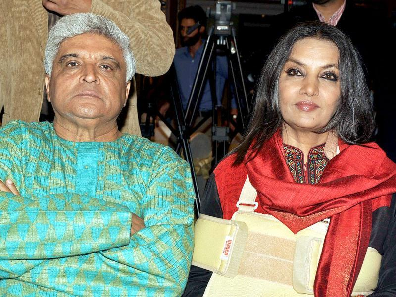 Shabana Azmi with husband Javed Akhtar.