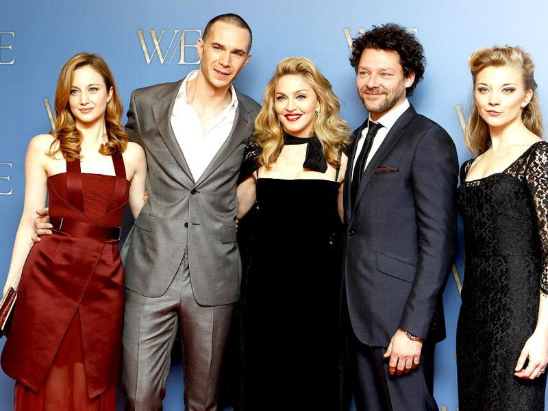 Andrea Ridenborough, James d'Arcy, Madonna, Richard Coyle and Natalie Dolmer at the UK premiere of W.E.