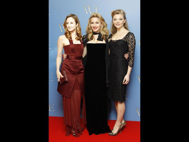 Andrea Riseborough and Natalie Dormer also graced the premiere. While Riseborough was dressed in a halter-style floor-length maroon dress, Dormer played it safe in a black knee-length outfit.