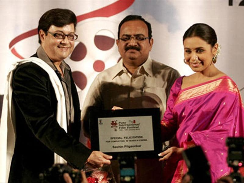Actor Sachin Pilgaonkar was honoured by Rani Mukherjee for his 50 long years in cinema.