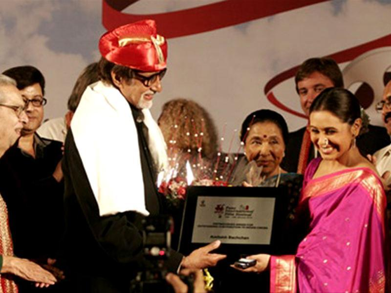 Big B was honoured for his contribution to cinema.
