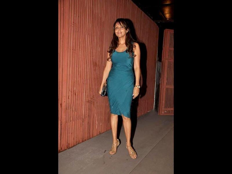 Gauri Khan makes up for SRK's absence at the launch.