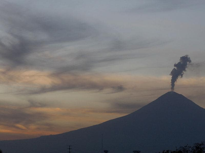 Steam rises from Mexico's volcano Popocatepetl in Puebla. The volcano is located 125 km (78 miles) east of Mexico City. Reuters photo/Imelda Medina