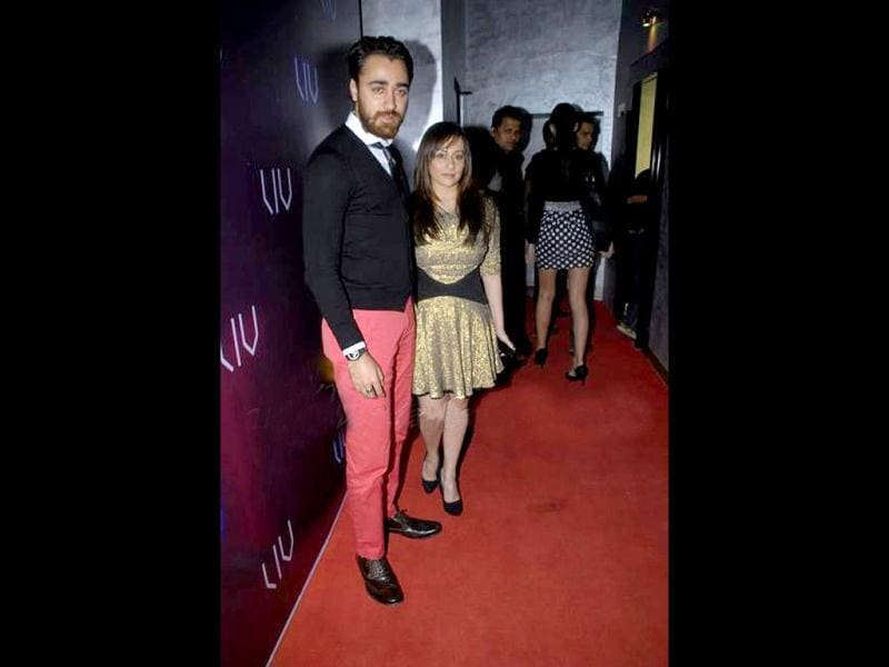 Imran Khan indeed shocks in his pink pants and wife Avantika in a bizarre golden dress!