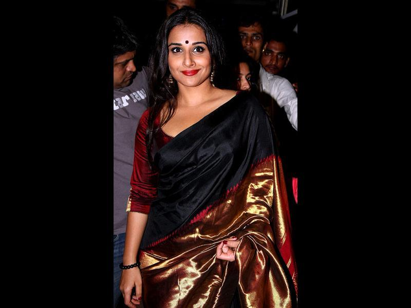 'Silk' Vidya Balan, once again in a Kanjivaram saree, albeit a striking one. (PTI)