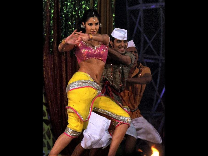 Katrina's crass dress is befitting to her item number Chikni Chameli from Agneepath. (PTI)