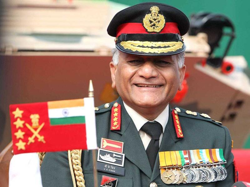 Chief of Army Staff Gen VK Singh addresses a press conference after Army Day Parade in New Delhi. PTI/Atul Yadav