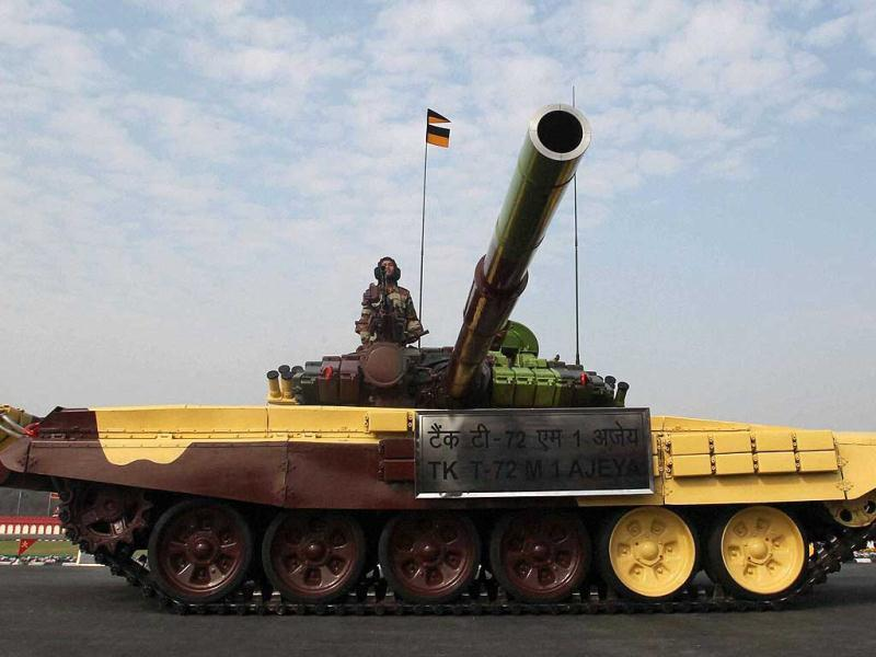 T-72 tank during the Army Day parade at Delhi Cantt in New Delhi. PTI Photo/Atul Yadav.