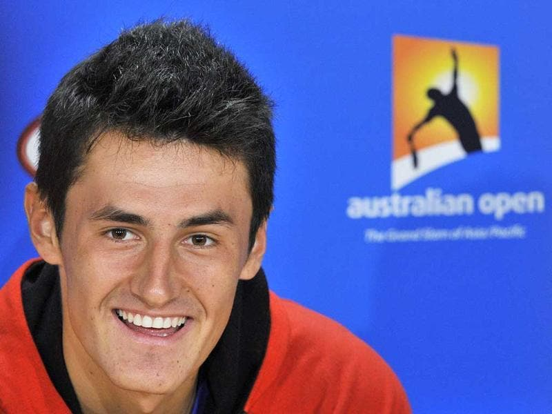 Bernard Tomic of Australia speaks during a news conference before the Australian Open tennis tournament in Melbourne. Reuters/Toby Melville