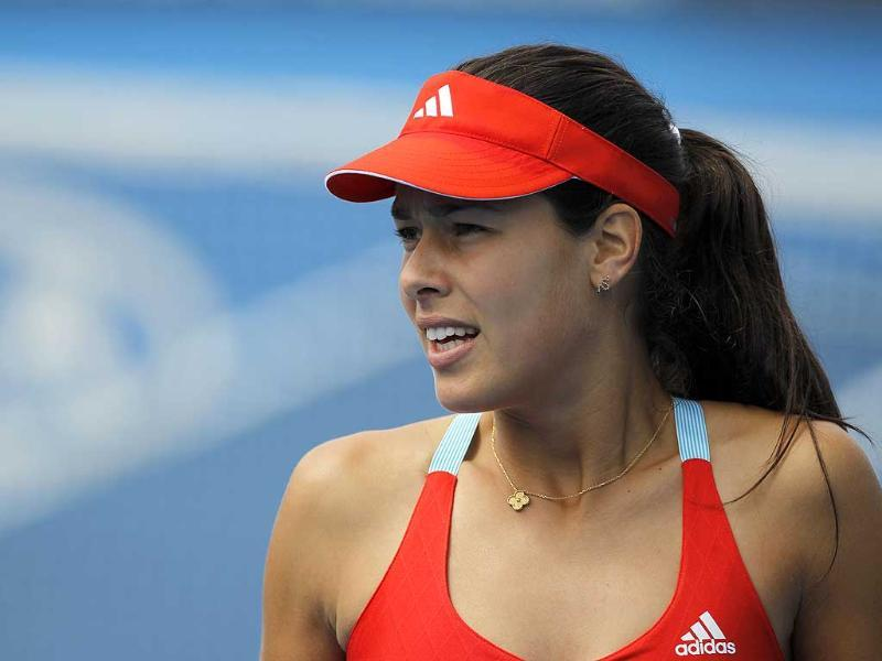 Ana Ivanovic of Serbia attends a practice session before the Australian Open tennis tournament in Melbourne. Reuters/Mark Blinch
