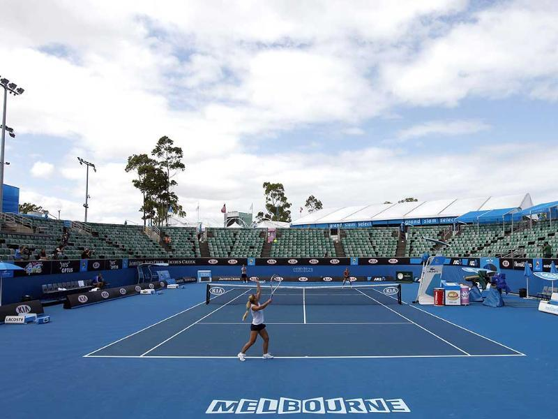 A view of a tennis court in Melbourne ahead of Australian Open 2012. Reuters/Mark Blinch