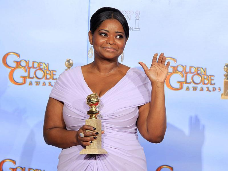 Octavia Spencer holds the award for best performance by an actress in a supporting role in a motion picture - drama for