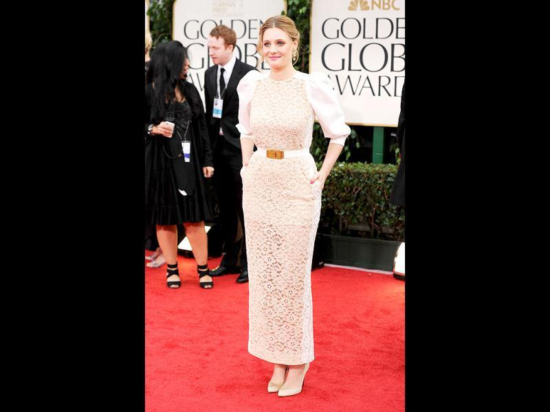 Actress Romola Garai too chose white for 69th Annual Golden Globe Awards. (AFP)