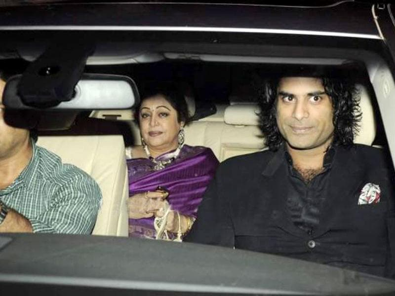 Kirron Kher with son Sikander Kher.