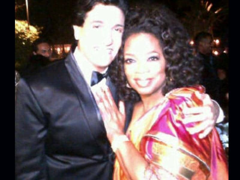 Shiamak Davar with Oprah.