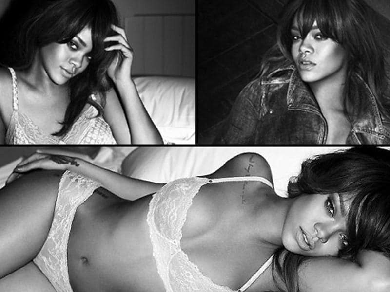 Rihanna has once again shed her clothes for Armani. She has seductively shot a series of black and white pictures in the latest lingerie line. Go check!