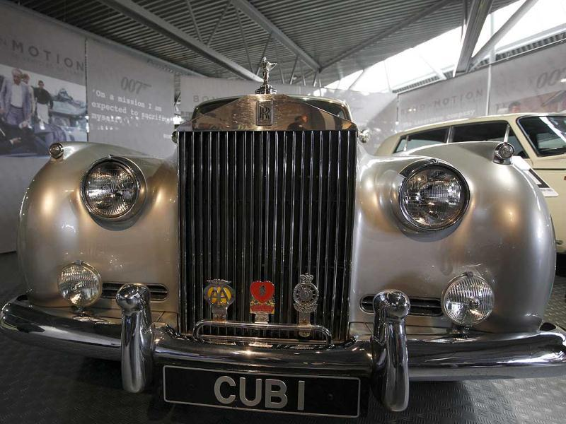 A Rolls Royce Silver Cloud II which featured in the James Bond movie A View To A Kill is seen at the opening of the Bond in Motion 50 vehicles in 50 years exhibition at the National Motor Museum near Southampton, England. AP Photo