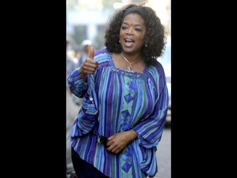 For her new show called Oprah's Next Chapter, she is doing a story about India.
