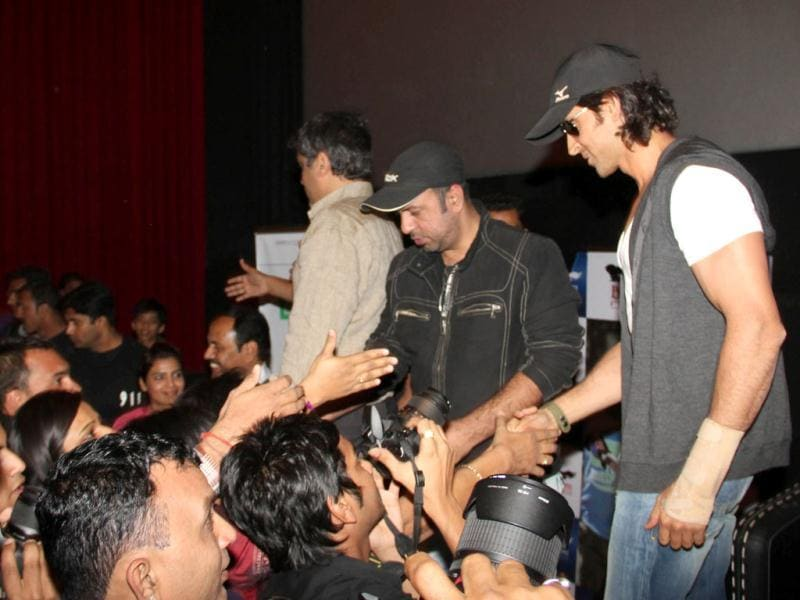 Hrithik Roshan at a press conference to promote his upcoming movie Agneepath in Ahmedabad on Jan 18.