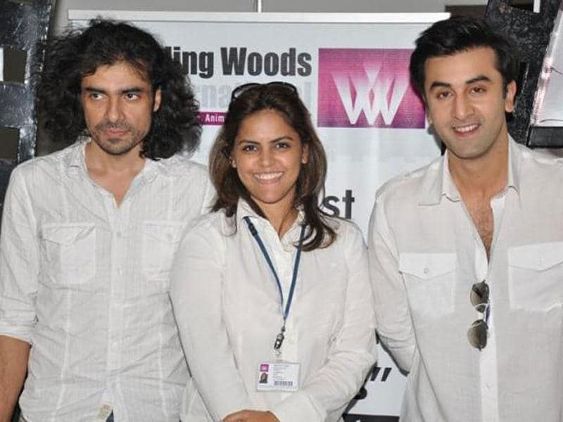 Ranbir Kapoor along with Imtiaz Ali shared his cinema experiences with budding filmmakers at Whistling Woods International film institute.
