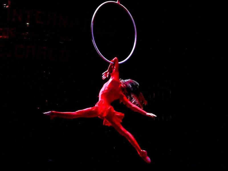 Canadian artist Erika Lemay performs during the opening ceremony of the 36th International Circus Festival of Monte Carlo in Monaco. Reuters/Eric Gaillard