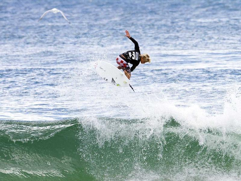 In this photo provided by the Association of Surfing Professionals, Jack Robinson, of Australia, competes in the Billabong ASP World Junior Championships surfing competition on the Gold Coast, Australia. AP Photo/Association of Surfing Professionals, Matt Dunbar