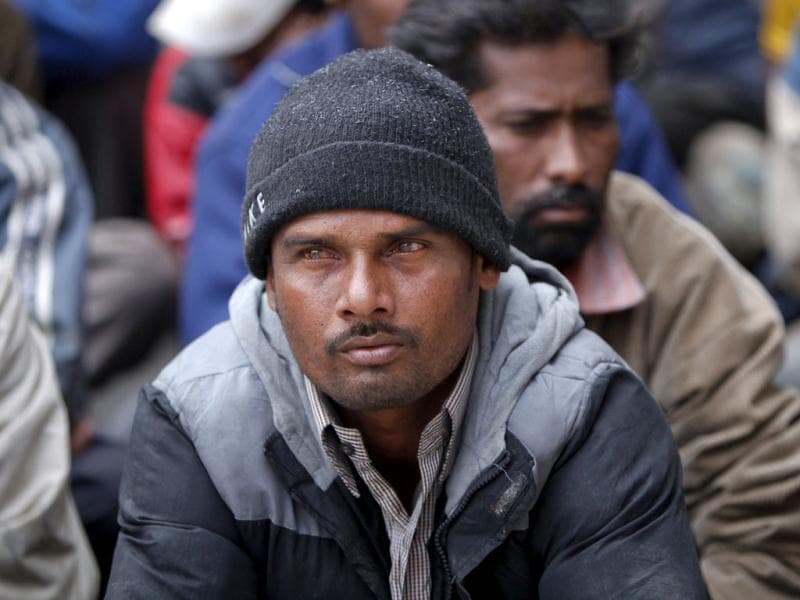 A fisherman from India sits with others in a police station in Karachi after being detained in Pakistan waters. Pakistan has detained 31 Indian fishermen and seized their 14 boats for fishing in its territorial waters in the Arabian Sea, the maritime security agency said on Sunday, local media reported. (Reuters)