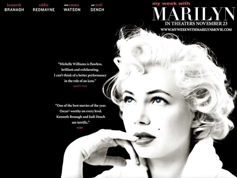 My Week with Marilyn sees Monroe played by Michelle Williams, who was nominated for Best Actress. Colin Clark, an employee of Sir Laurence Olivier's, documents the tense interaction between Olivier and Marilyn Monroe during production of The Prince and the Showgirl.