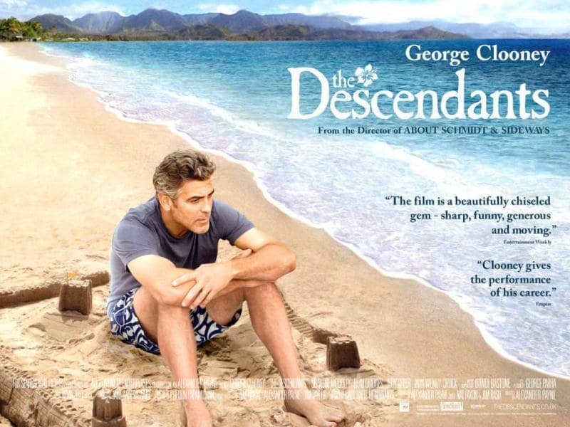 The Descendants manages a nomination in almost every category including Best Picture, Best Actor, Best Director, Best Adapted Screenplay. Alexander Payne's The Descendants is about the relationship of a father (George Clooney) with his two daughters.