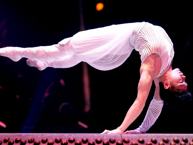 Cai Yong performs during the awards ceremony for the 36th Monte Carlo International Circus Festival in Monaco . REUTERS/Valery Hache