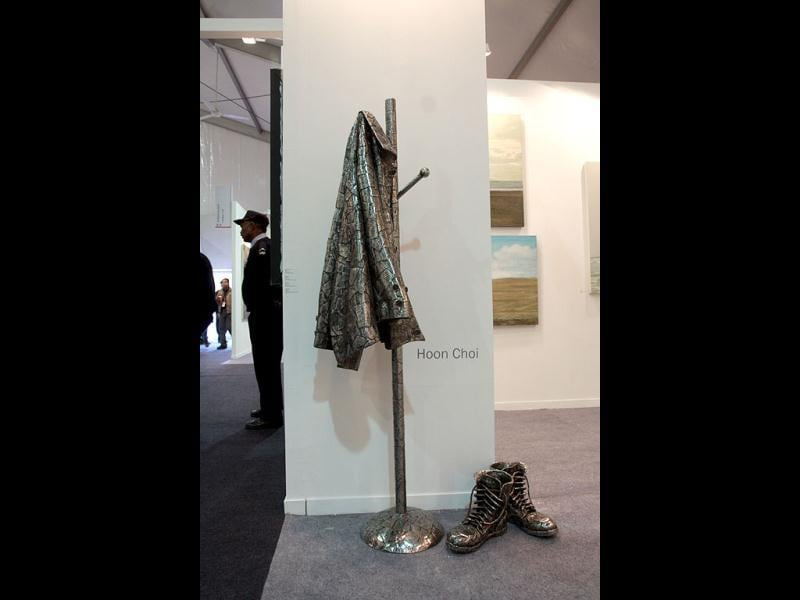 An exhibit at the India Art Fair, New Delhi. The fourth edition of India Art Fair will take place between January 25 to 29. (HT Photo/Arijit Sen)