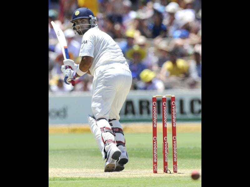 India's Virat Kohli bats against Australia during their cricket Test match in Adelaide, Australia. AP Photo/David Mariuz