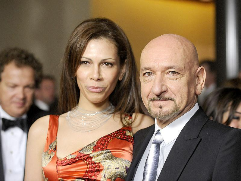 Ben Kingsley and his wife, Brazilian actress Daniela Lavender, attend the 64th annual Directors Guild of America Awards in Los Angeles. Reuters