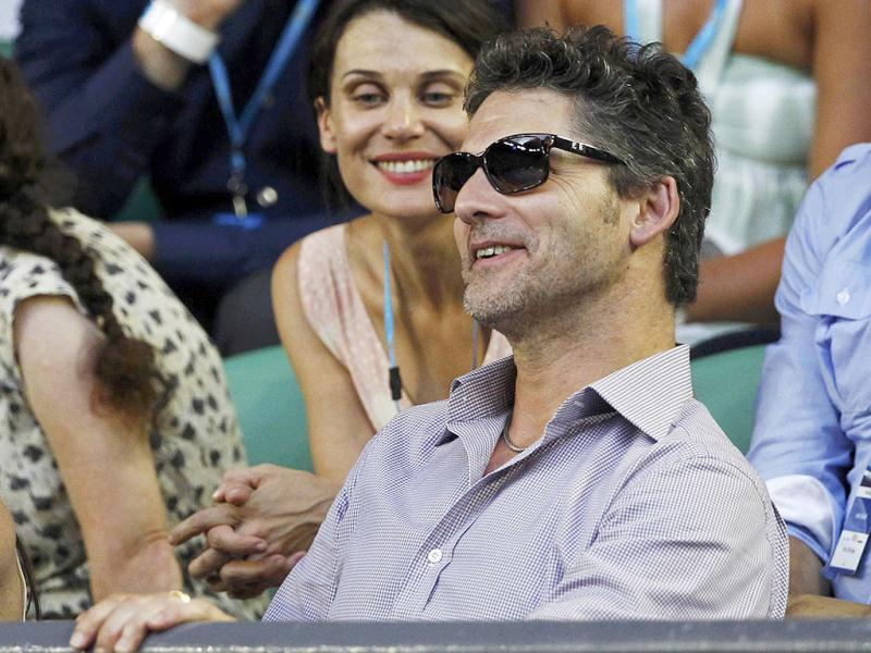 Actor Eric Bana attends the men's singles final match between Novak Djokovic and Rafael Nadal at the Australian Open tennis tournament. Reuters/Tim Wimborne