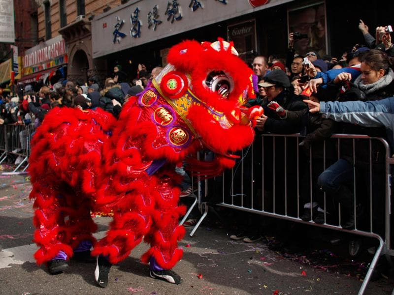 People attend a Chinese New Year parade at Chinatown in New York. (REUTERS/Eduardo Munoz)