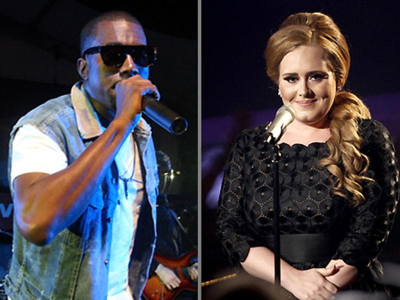 While Kanye West received the most nominations with seven, Adele, Foo Fighters and Bruno Mars each have six nominations. Here's a look at the artists with highest nominations for the 54th annual Grammy Awards.