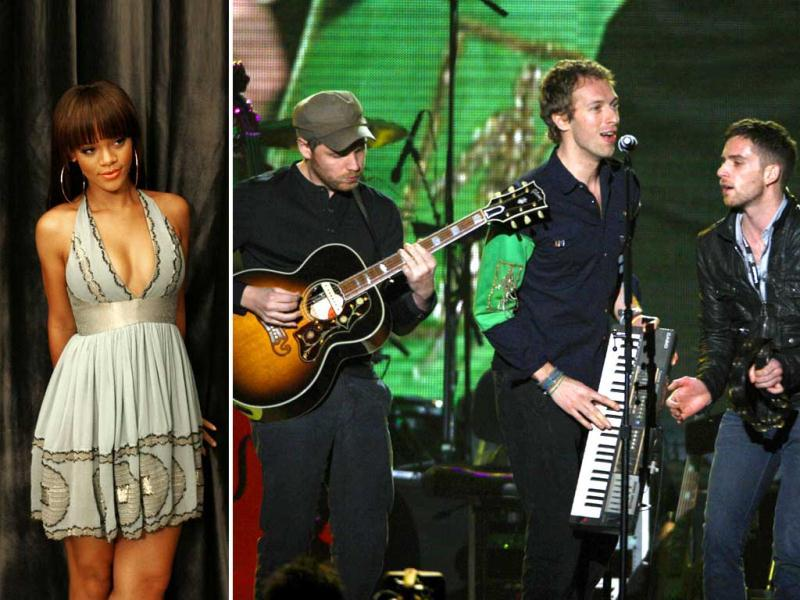 Coldplay and Rihanna will come together for the first time.