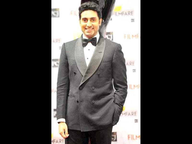 Abhishek Bachchan looks cheerful during the ceremony.