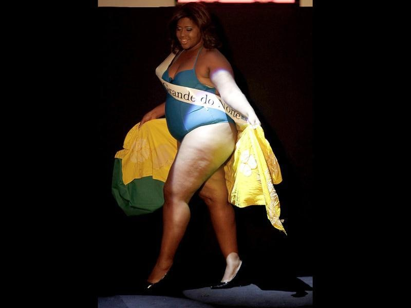 Miss Camila Georg of Rio Grande do Norte state walks the runway during the Miss Brazil Plus-Size beauty contest in Sao Paulo. (REUTERS/Nacho Doce)