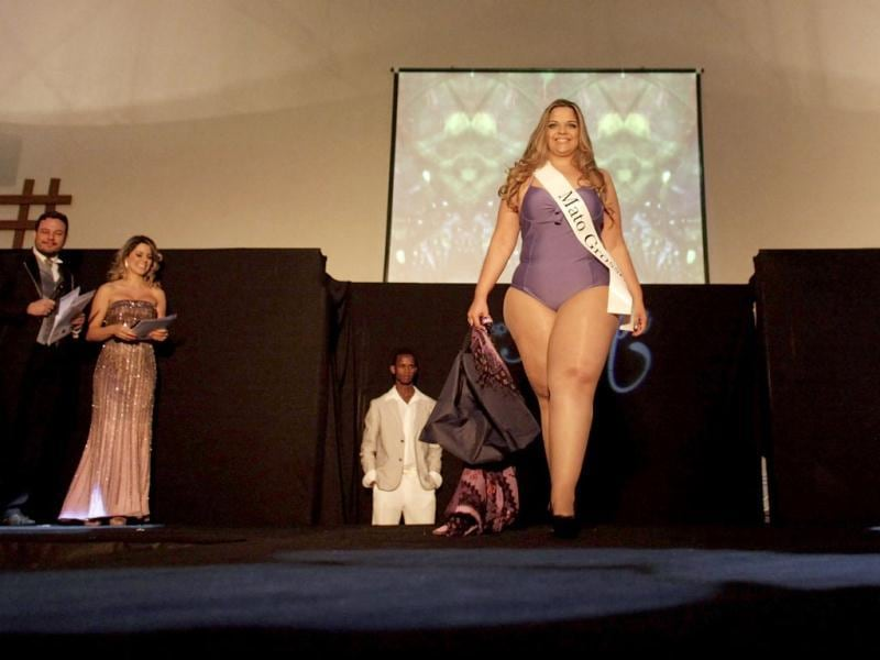 Miss Mirna Tardim of Mato Grosso state walks the runway during the Miss Brazil Plus-Size beauty contest in Sao Paulo. (REUTERS/Nacho Doce)