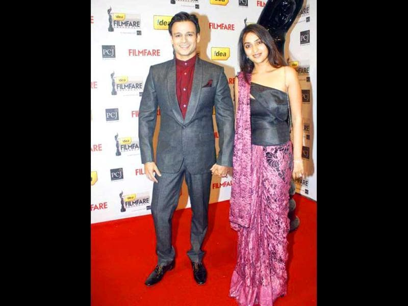Vivek Oberoi walked the red carpet with wife Priyanka.