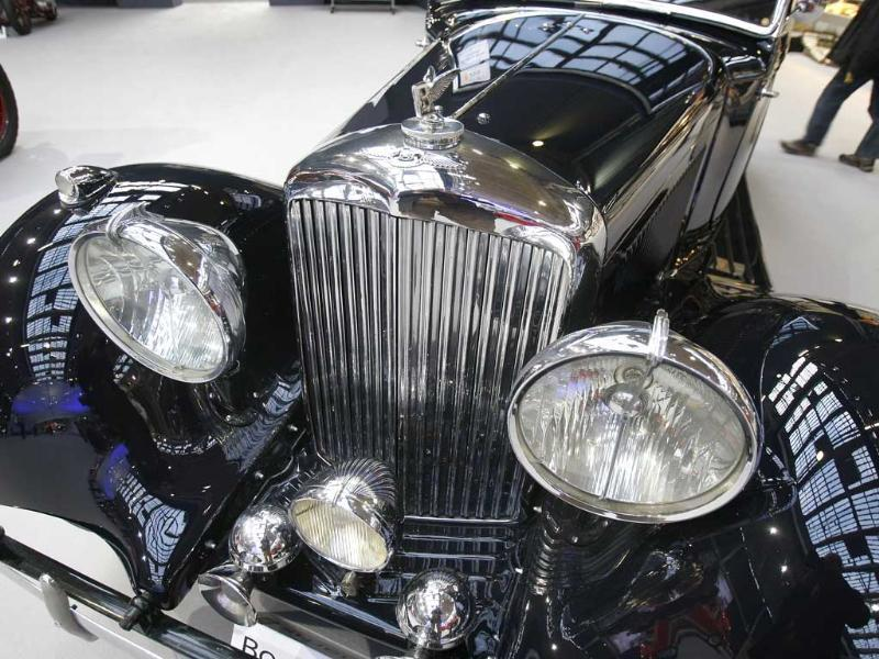 A 1938 Bentley Drophead is presented in Paris. Over 100 cars and 35 motorcycles, including several French-built cars and three private collections, will be sold at an auction held in Paris on Februar 2. (AP Photo/Remy de la Mauviniere)