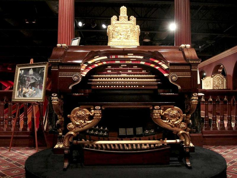 A Wurlitzer family residential /theater pipe organ sits on display at the Milhous Collection in Boca Raton, Florida. One of the country's most extraordinary and voluminous private collections of vintage cars, automated musical instruments and other memorabilia is going on the auction block. Brothers Bob Milhous and Paul Milhous will empty their 39,000-square-foot building, auctioning off its contents to bidders. The crown jewel is a custom-built carousel with 42 hand-carved animals, expected to fetch at least $1 million. All told, the auction is expected to generate about $40 million. (AP Photo/Alan Diaz)