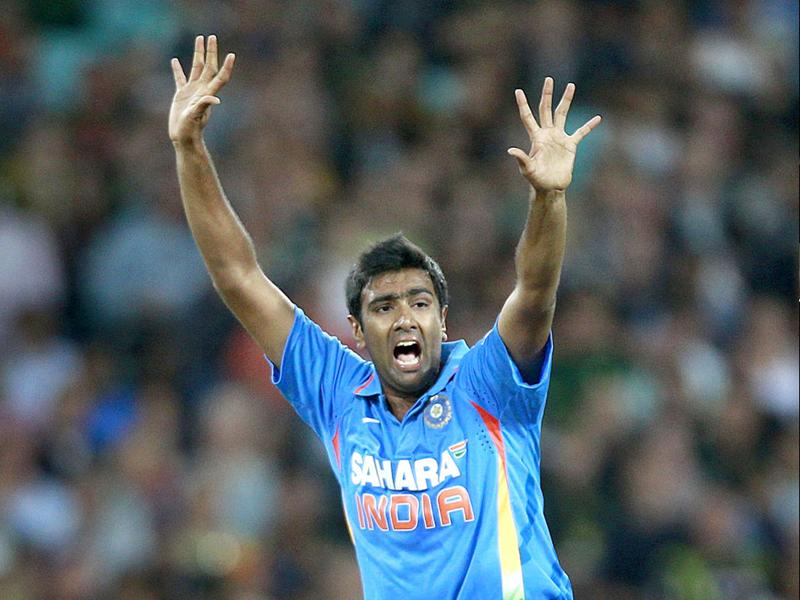 Ravichandran Ashwin appeals successfully for the wicket of Australia's Travis Birt during their T20 match in Sydney. Reuters/Daniel Munoz
