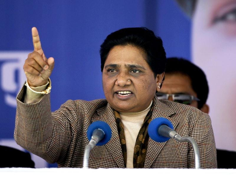 Chief minister of Uttar Pradesh Mayawati gestures as she addresses an election rally at Sitapur, near Lucknow. India's biggest state, Uttar Pradesh, will be choosing its state assembly in elections starting next week. AP/Saurabh Das