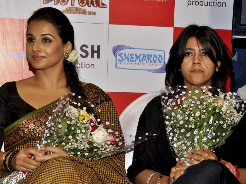 Vidya Balan and Ekta Kapoor at the event.